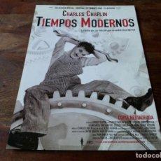 Cine: TIEMPOS MODERNOS - CHARLES CHAPLIN, PAULETTE GODDAR - GUIA ORIGINAL MANGA FILMS REPOSICION. Lote 207229008