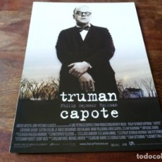 Cine: TRUMAN CAPOTE - PHILIP SEYMOUR HOFFMAN, CATHERINE KEENER - GUIA ORIGINAL SONY AÑO 2005. Lote 207229326