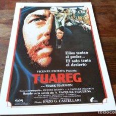 Cine: TUAREG - MARK HARMON, LUIS PRENDES, ALDO SAMBRELL, RITZA BROWN - GUIA ORIGINAL FILMAYER AÑO 1984. Lote 207229910