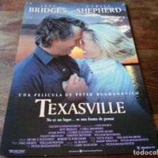 Cine: TEXASVILLE - JEFF BRIDGES, CYBILL SHEPHERD, PETER BOGDANOVICH - GUIA ORIGINAL U.I.P AÑO 1990. Lote 207230503