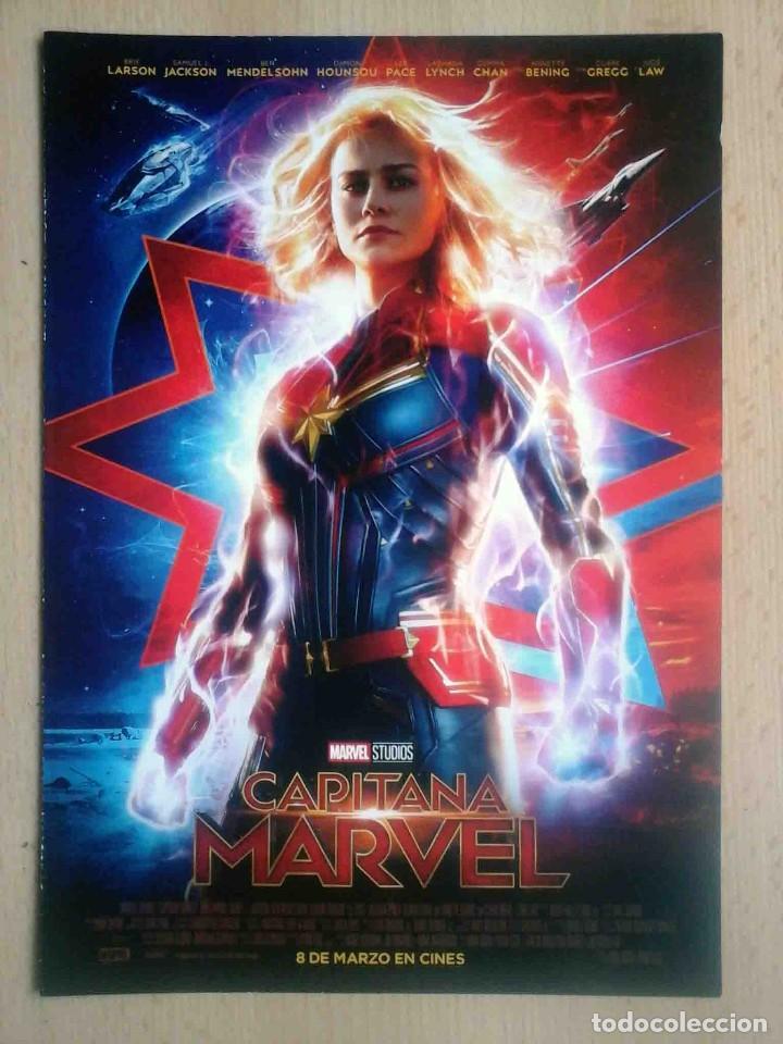 GUÍA ORIGINAL DE CINE: Capitana Marvel (Brie Larson, Samuel L. Jackson, Jude Law, Ben Meldensohn), usado segunda mano