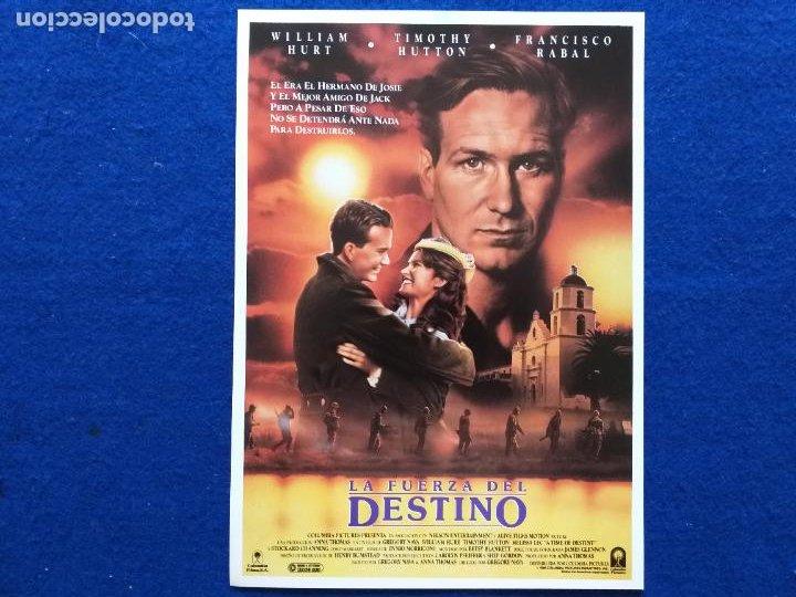 GUIA: LA FUERZA DEL DESTINO. A TIME OF DESTINY.GREGORY NAVA, WILLIAM HURT, TIMOTHY HUTTON,PACO RABAL (Cine - Guías Publicitarias de Películas )