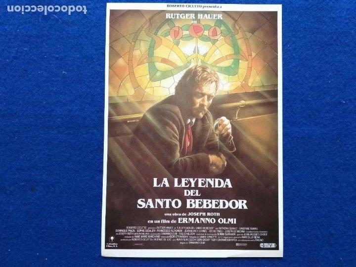 GUIA: LA LEYENDA DEL SANTO BEBEDOR. CON: RUTGER HAUER, DOMINIQUE PINON. AÑO 1988 (Cine - Guías Publicitarias de Películas )