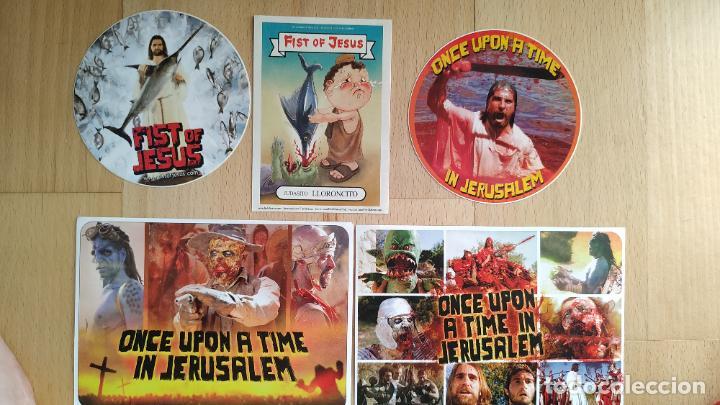 LOTE 5 PEGATINAS FIST OF JESUS -CORTOMETRAJE (Cine - Guías Publicitarias de Películas )