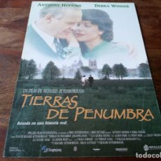 Cine: TIERRAS DE PENUMBRA - ANTHONY HOPKINS, DEBRA WINGER, JOSEPH MAZZELLO - GUIA ORIGINAL WARNER 1993. Lote 207320708