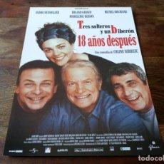 Cine: TRES SOLTEROS Y UN BIBERON 18 AÑOS DESPUES - DIR. COLINE SERREAU - GUIA ORIGINAL FILMAX AÑO 2003. Lote 207321301