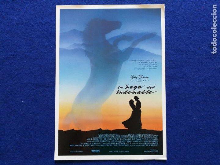 GUIA: LA SAGA DEL INDOMABLE. WALT DISNEY. TOM BURLINGTON, BRIAN BENNEHY (Cine - Guías Publicitarias de Películas )