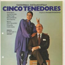 Cine: CINCO TENEDORES. Lote 208811210