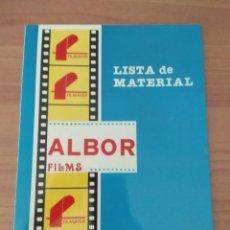 Cine: LISTA DE MATERIAL FILMAYER Y ALBOR. Lote 209343842