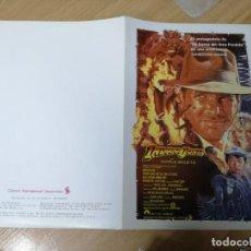Cine: INDIANA JONES Y EL TEMPLO MALDITO - HARRISON FORD - PARAMOUNT. Lote 210223332
