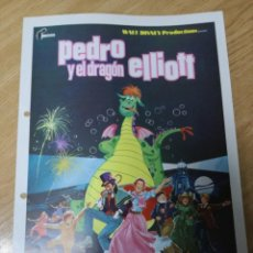 Cine: PEDRO Y EL DRAGON ELLIOTT ( GUIA ORIGINAL WALT DISNEY). Lote 210223883