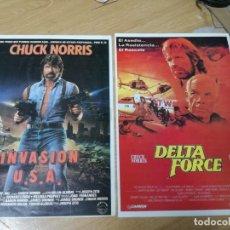 Cine: DELTA FORCE (1986) Y INVASION USA CHUCK NORRIS.DOS LAMINAS SIN TEXTO POR DETRAS. Lote 210224037