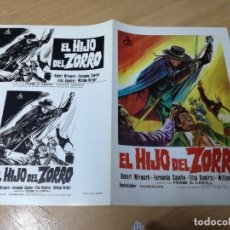 Cine: GUÍA PUBLICITARIA DE LA PELÍCULA EL HIJO DEL ZORRO, ROBERT WIRMARK, DOBLE. Lote 210224643