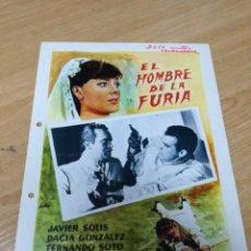 Cine: GUIA EL HOMBRE DE LA FURIA JAVIER SOLIS DACIA GONZALEZ. FERNANDO OROZCO. Lote 210225586