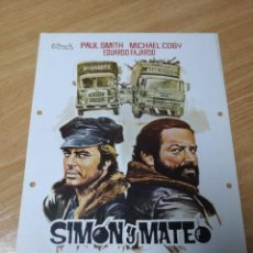 Cine: SIMON Y MATEO. GUIA ORIGINAL ESTRENO.. Lote 210225670