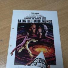 Cine: GUIA PUBLICITARIA ORIGINAL. LA LUZ DEL FIN DEL MUNDO. KIRK DOUGLAS, YUL BRYNNER, 1981. Lote 210226036