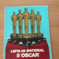 Cine: LISTA DE MATERIAL 5 OSCAR C.B FILMS 1976-77. Lote 210311940