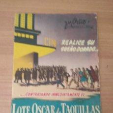 Cine: LISTA DE MATERIAL J.M.ORTIZ. Lote 210316052
