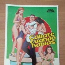 Cine: SEX--GUIA DE LA PELICULA--- CALLATE CUANDO HABLAS. Lote 210472976