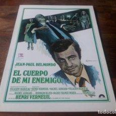 Cine: EL CUERPO DE MI ENEMIGO - JEAN-PAUL BELMONDO, BERNARD BLIER - GUIA ORIGINAL COLUMBIA AÑO 1976. Lote 210473217