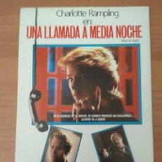 Cine: G-6--GUIA DE LA PELICULA--- UNA LLAMADA A MEDIANOCHE. Lote 210473516