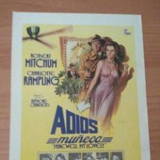 Cine: G-6--GUIA DE LA PELICULA--- ADIOS MUÑECA. Lote 210473647