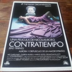 Cine: CONTRATIEMPO - ART GARFUNKEL, THERESA RUSSELL, HARVEY KEITEL - GUIA ORIGINAL INCINE AÑO 1980. Lote 210474042