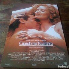 Cine: CUANDO ME ENAMORO - JESSICA LANGE, DENNIS QUAID, TIMOTHY HUTTON - GUIA ORIGINAL WARNER AÑO 1988. Lote 210474170