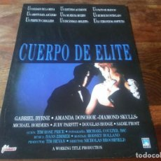 Cine: CUERPO DE ELITE - GABRIEL BYRNE, AMANDA DONOHOE, SADIE FROST - GUIA ORIGINAL FILMAX AÑO 1989. Lote 210474327