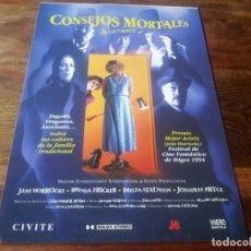 Cine: CONSEJOS MORTALES - BRENDA FRICKER, IMELDA STAUNTON - GUIA ORIGINAL VHERO FILMS AÑO 1994. Lote 210474533