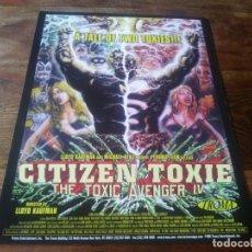 Cine: CITIZEN TOXIE - DAVID MATTEY,HEIDI SJURSEN - DIR. LLOYD KAUFMAN - GUIA ORIGINAL AÑO 2000 TROMA. Lote 210474933