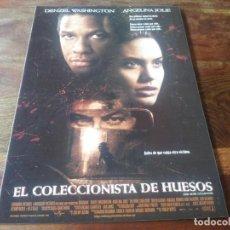 Cine: EL COLECCIONISTA DE HUESOS - DENZEL WASHINGTON, ANGELINA JOLIE - GUIA ORIGINAL COLUMBIA AÑO 1999. Lote 210475375