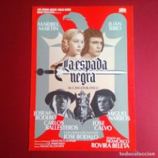 Cine: GUIA DE CINE - LA ESPADA NEGRA,76 JUAN RIBO Y M. MARTIN- (4 HOJAS)(EXCELENTE CONSERVACION)- (L1). Lote 210653704