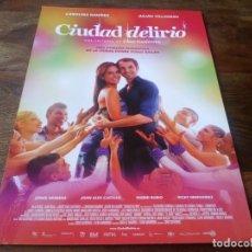 Cine: CIUDAD DELIRIO - JULIAN VILLAGRAN, CAROLINA RAMIREZ, INGRID RUBIO - GUIA ORIGINAL VERTIGO AÑO 2014. Lote 210961175