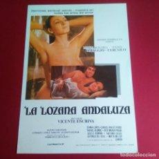 Cine: GUIA DE CINE - LA LOZANA ANDALUZA 1976 - VICENTE ESCRIVA - MARIA ROSARIA OMAGGIO - EXCELENTE. Lote 210961912