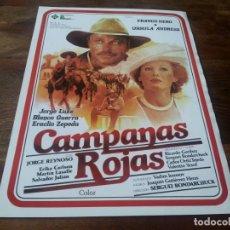 Cine: CAMPANAS ROJAS - FRANCO NERO, URSULA ANDRESS, BLANCA GUERRA - GUIA ORIGINAL PELIMEX AÑO 1982. Lote 210962106
