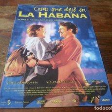 Cine: COSAS QUE DEJE EN LA HABANA - JORGE PERUGORRÍA, VIOLETA RODRÍGUEZ - GUIA ORIGINAL ALTA AÑO 1997. Lote 210962442