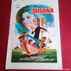 Cine: GUIA DE CINE - SUSANA 1969 - MARIANO OZORES-CONCHITA VELAZCO - 4 PAGINAS -. Lote 210962540
