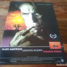 Cine: CAZADOR BLANCO CORAZON NEGRO - CLINT EASTWOOD, JEFF FAHEY - GUIA ORIGINAL WARNER AÑO 1990. Lote 210962752