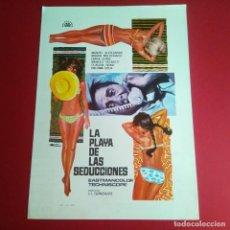 Cine: GUIA DE CINE - LA PLAYA DE LAS SEDUCCIONES -1967 DAKOTA JOHNSON 4 PAGINAS -. Lote 210963300