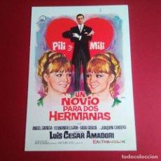 Cine: GUIA DE CINE - UN NOVIO PARA DOS HERMANAS 1967 - PILI Y MILI- EXCELENTE CONSERVACION- VER. Lote 210964236