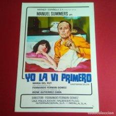 Cine: GUIA DE CINE - YO LA VI PRIMERO 1974 - MANUEL SUMMERS - EXCELENTE. Lote 210966214
