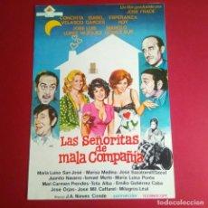 Cine: GUIA DE CINE -LAS SEÑORITAS DE MALA COMPAÑIA 1973 CONCHA VELAZCO -4 PAGINAS + SINPSIS- EXCELENTE- L1. Lote 211499712