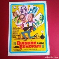 Cine: GUIA DE CINE -CUIDADO CON LAS SEÑORAS-JLL VAZQUEZ- 6 PAGINAS -BUENA CONSERVACION- L1. Lote 211502420