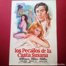 Cine: GUIA DE CINE - LOS PECADOS DE LA CASTA SUSANA 1969 -EDWIGE FENECH -4 PAGINAS - EXCELENTE - L2. Lote 211506339