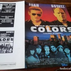 Cine: COLORS,COLORES DE GUERRA - SEAN PENN,ROBERT DUVALL,Mª CONCHITA ALONSO,DENNIS HOPPER - GUIA ORIGINAL. Lote 211508077