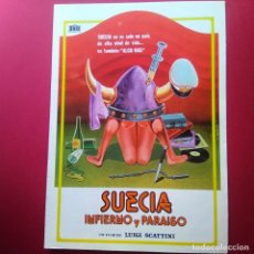 Cine: GUIA DE CINE -SUECIA INFIERNO Y PARAISO ( DESTAPE DE LOS 70)- 4 PAGINAS -EXCELENTE - L2. Lote 211508674