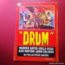 Cine: GUIA DE CINE - DRUM 1985 - WARREN OATE - 4 PAGINAS - L2. Lote 211509140