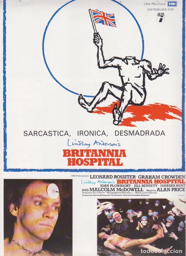BRITANNIA HOSPITAL, GUÍA DOBLE (Cine - Guías Publicitarias de Películas )