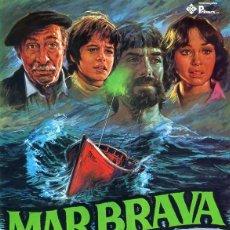 Cine: MAR BRAVA GUÍA ORIGINAL SIMPLE DE SU ESTRENO EN ESPAÑA ALFREDO MAYO JORGE SANZ. Lote 212272201